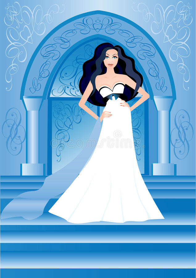 Mariée illustration stock
