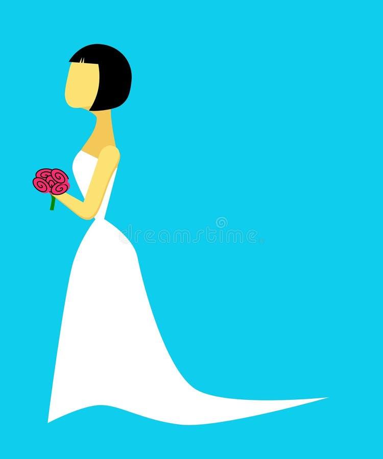 Mariée illustration stock
