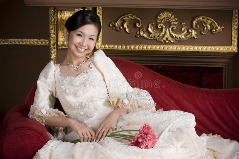Mariée asiatique douce adorable 1 photos libres de droits