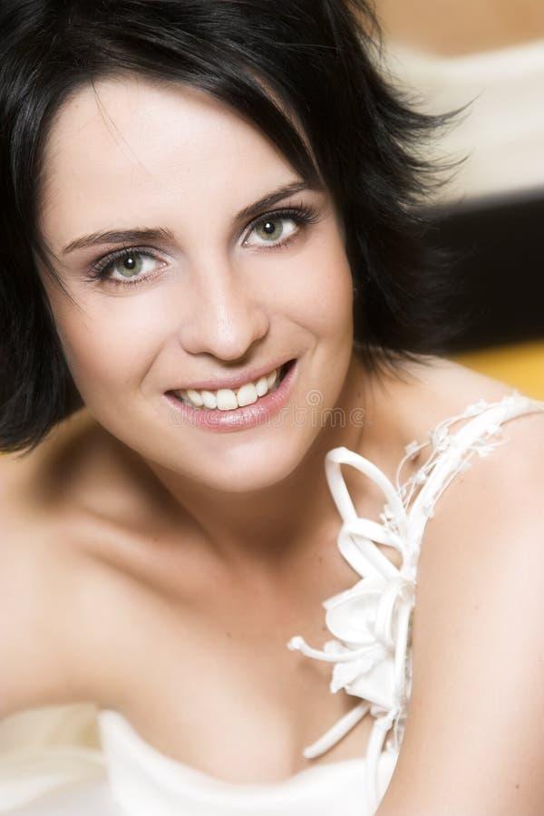 Mariée de Brunette photographie stock
