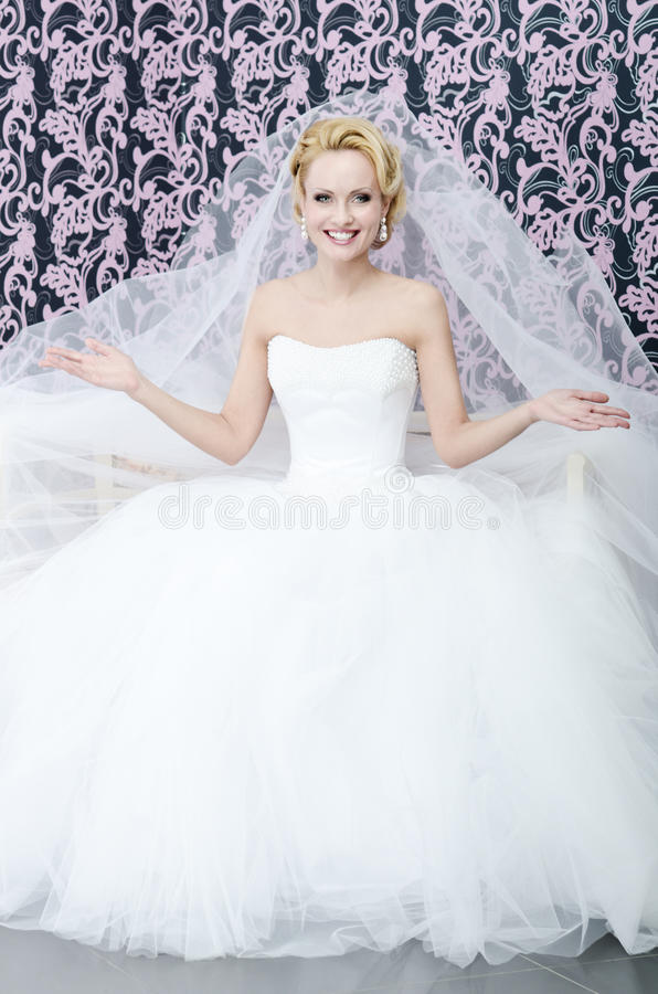 Mariée de sourire photo libre de droits