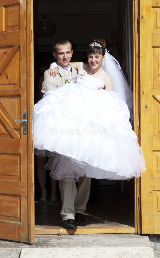 Mariée et grome image stock