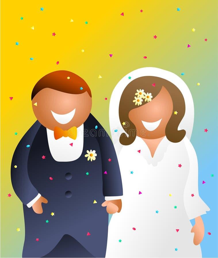 Mariée et marié illustration stock