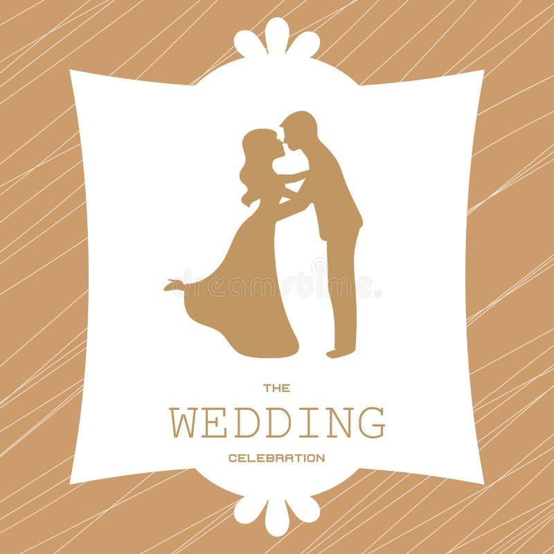 Mariée et marié de couples de mariage illustration stock