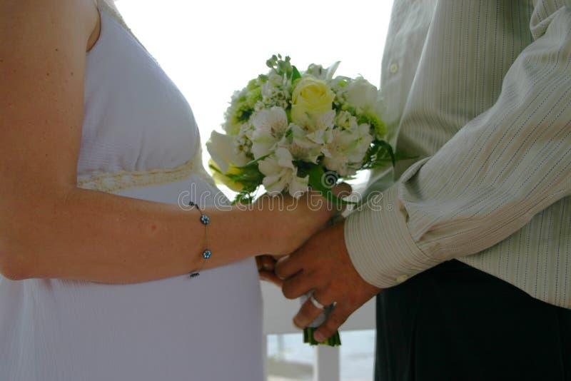 Mariée et marié modernes images libres de droits