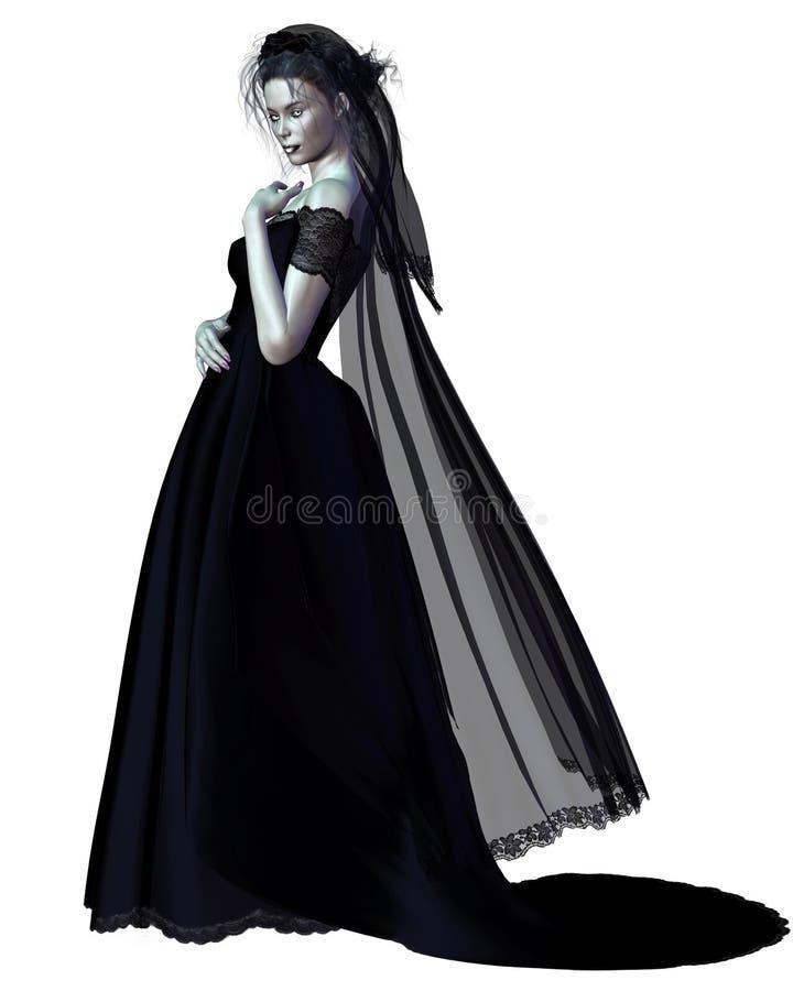 Mariée gothique - 1 illustration stock