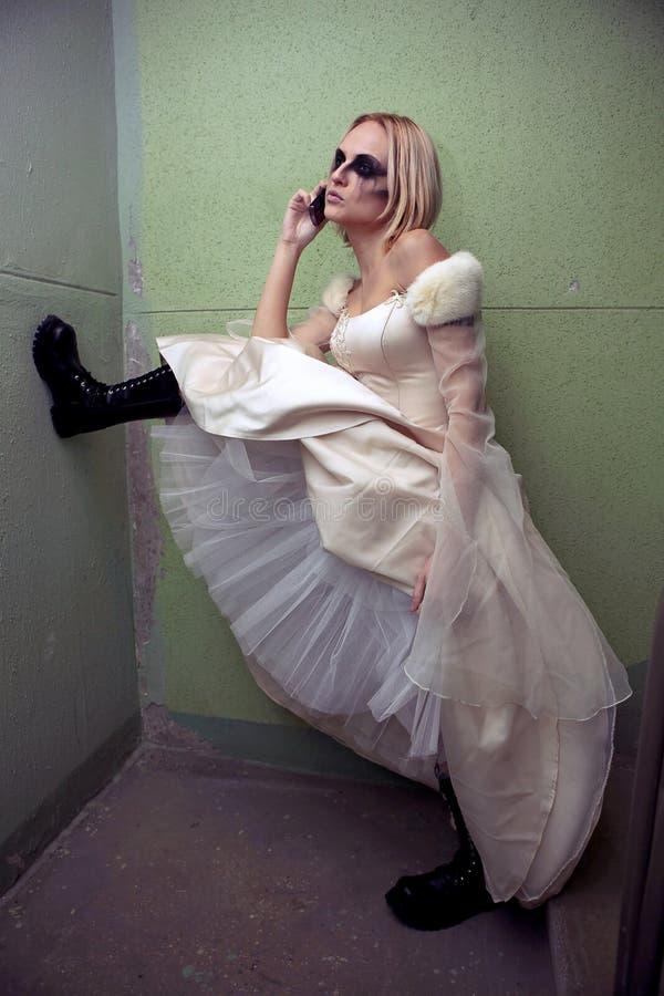 Mariée gothique photo libre de droits