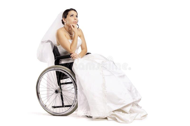 Mariée handicapée photos libres de droits
