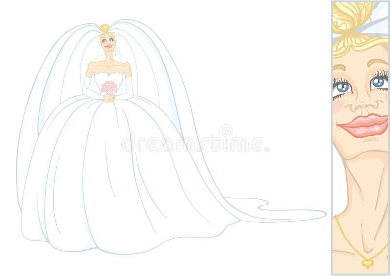 Mariée heureuse illustration de vecteur