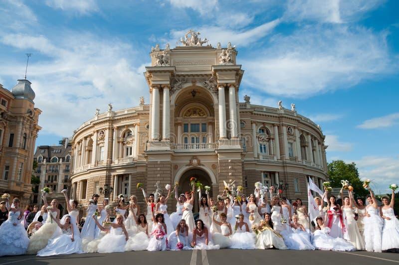 Mariée Paradeâ d'â d'événement annuel première photographie stock libre de droits