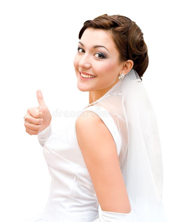 Mariée - pouce vers le haut images stock