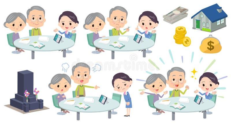 Mari de conférence de réunion vieux et wife_2 illustration de vecteur