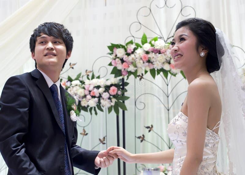 mari et épouse Neuf-mariés image stock