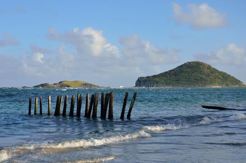 Maria ö från St Lucia arkivbild