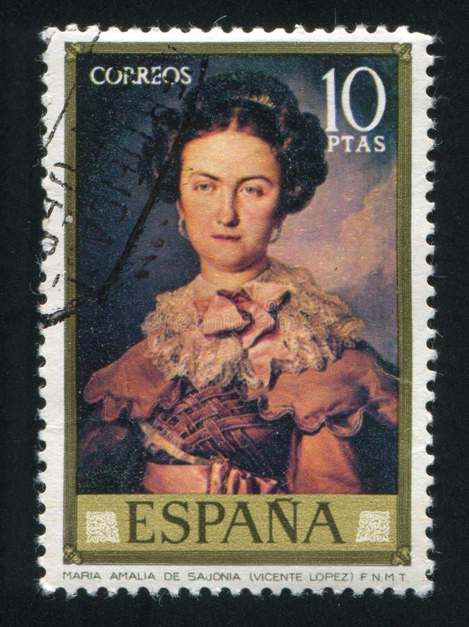 Maria Amalia de Sajonia photographie stock