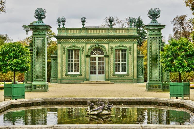 Maria Antoinette nieruchomość w parc Versailles pałac zdjęcie stock