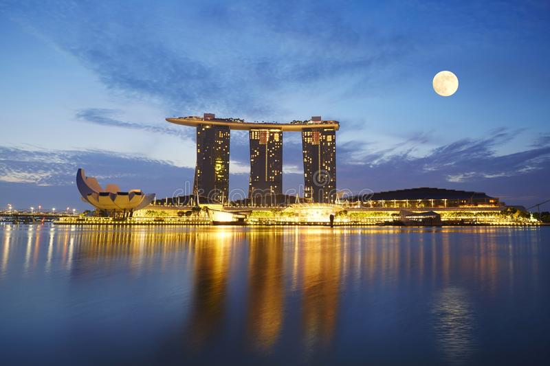 Maria Bay Sands, Singapura imagem de stock royalty free