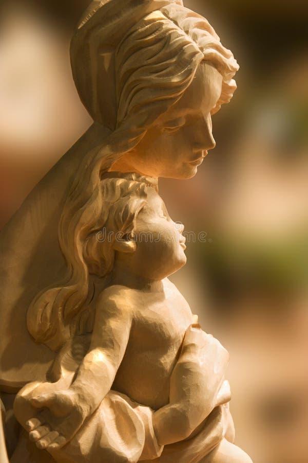 Maria con el Cristo-niño foto de archivo libre de regalías