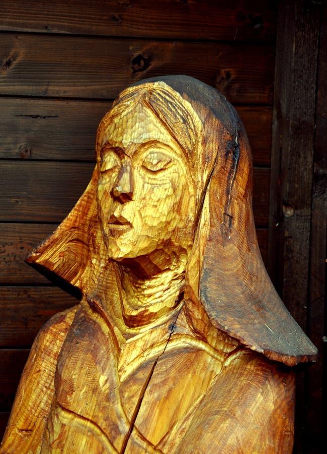 Maria dans le bethelem découpé fait main de christmass photos libres de droits
