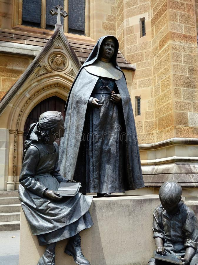 Maria della statua trasversale immagine stock libera da diritti