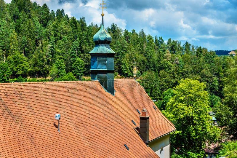 Maria in der Tanne-Kirche nahe Triberg im Schwarzwald im Schwarzwald - Deutschland stockbild