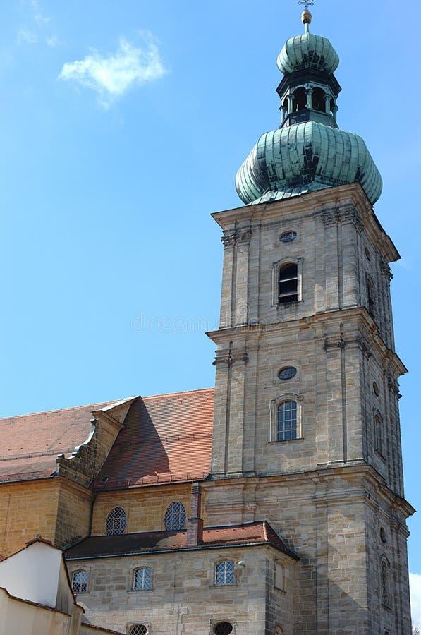 maria för ambergkyrkahjälp mariahilfkirche s royaltyfria bilder