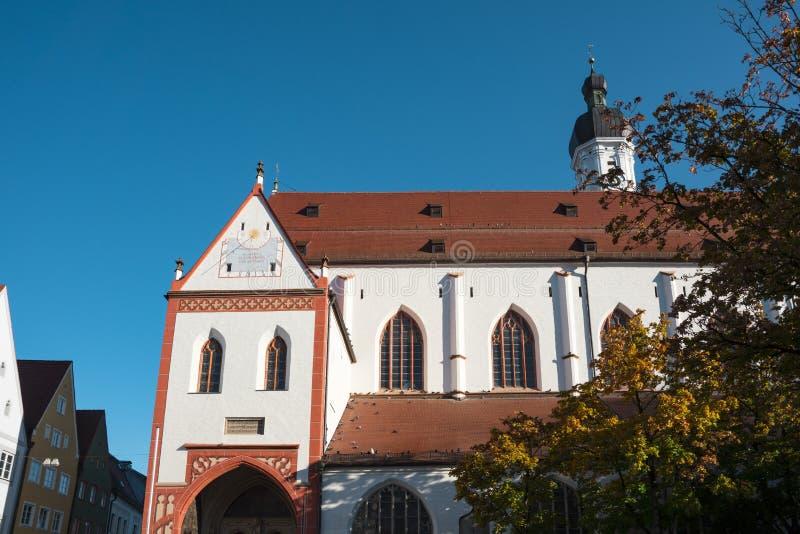 Maria Himmelfahrt Church, Landsberg am Lech, Alemanha imagem de stock