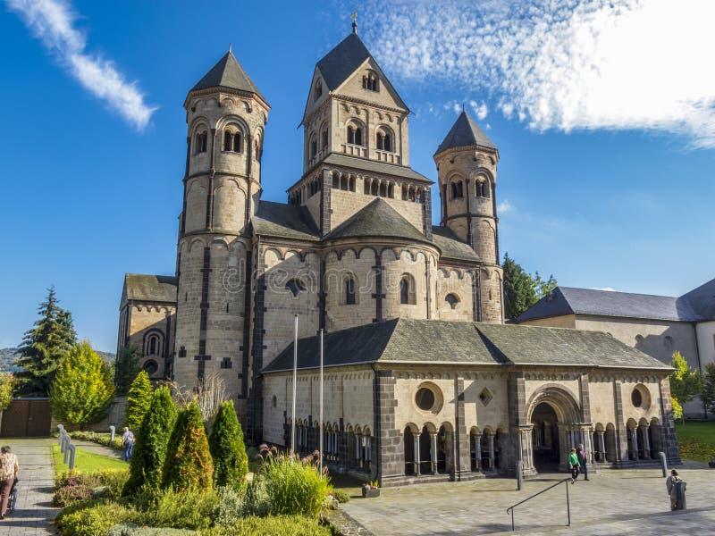 Maria Laach Abbey, Germany. Maria Laach Abbey, a Benedictine abbey on the southwestern shore of the Laacher See, Lake Laach near Andernach, Eifel region royalty free stock photos