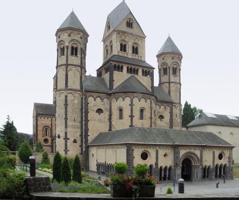 Maria Laach Abbey. Near Andernach in the Eifel region of the Rhineland-Palatinate in Germany royalty free stock image