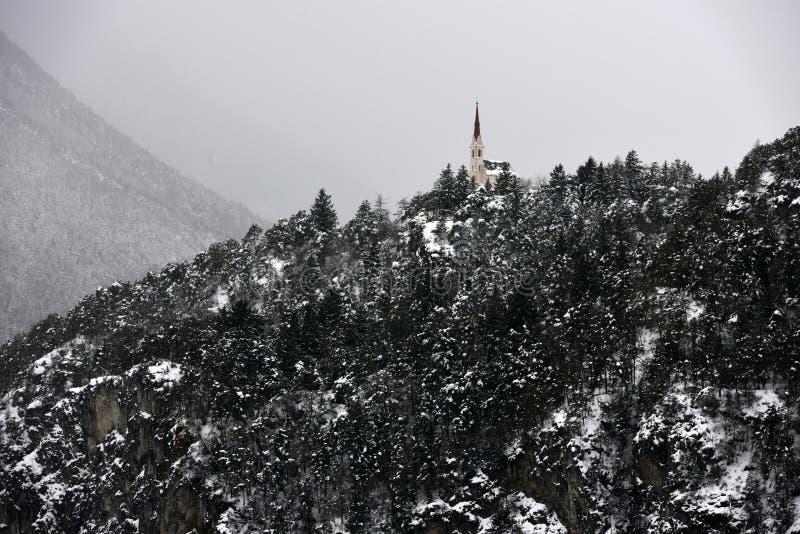 Maria Locherboden Church, Motz, Tirol, Oostenrijk stock afbeeldingen