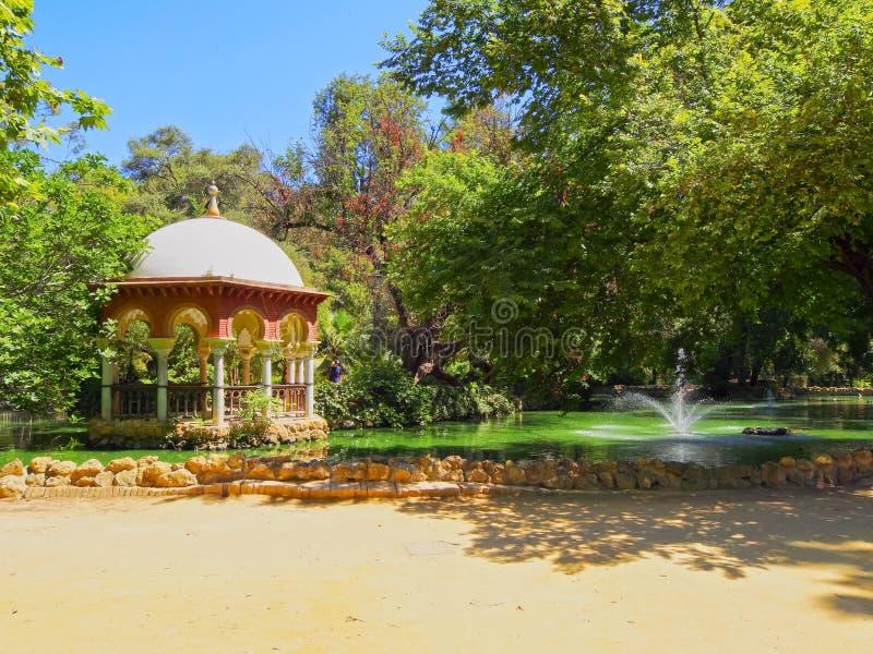 Maria Luisa Park in Siviglia, Spagna immagini stock libere da diritti