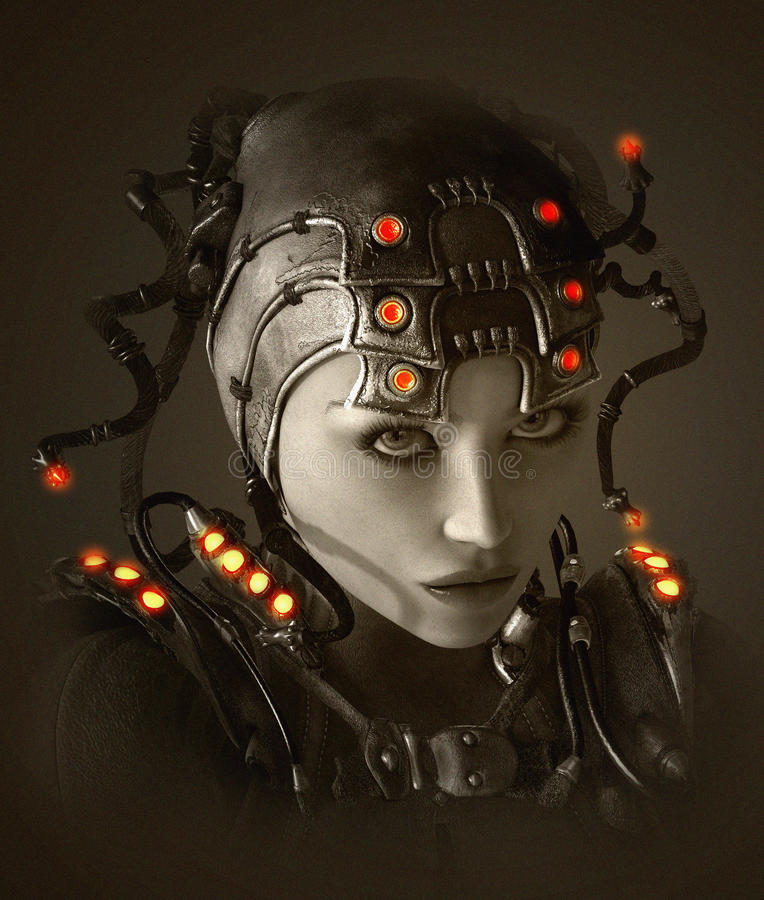Maria Machine 3d CG vektor illustrationer