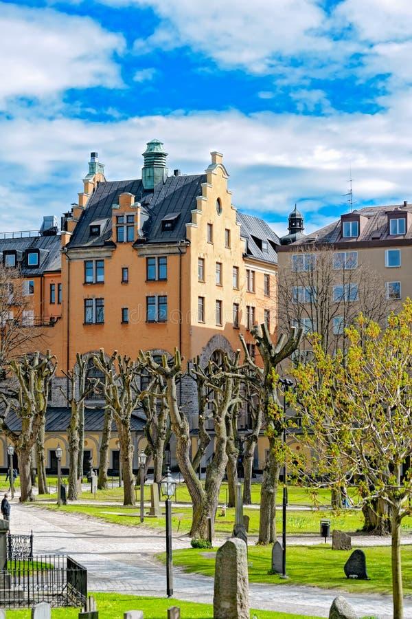 Maria Magdalena Church, Éstocolmo, Suécia fotos de stock