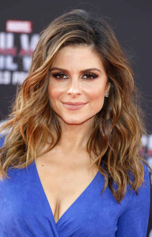 Maria Menounos. At the World premiere of 'Captain America: Civil War' held at the Dolby Theatre in Hollywood, USA on April 12, 2016 royalty free stock photos