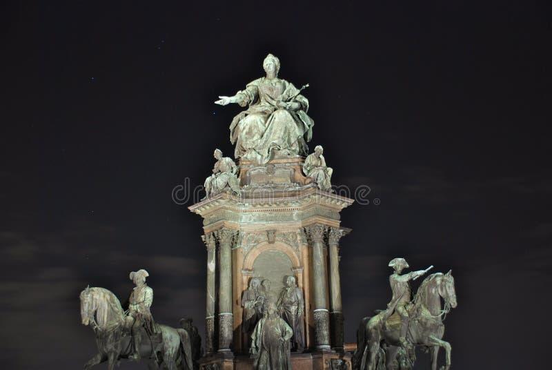 maria monumenttheresia vienna royaltyfri foto