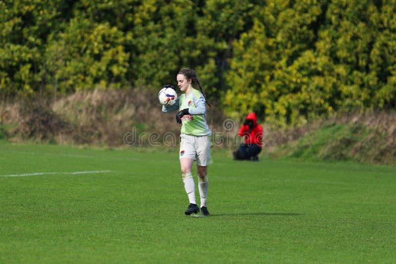 Maria O Sullivan pendant le match de ligue national des femmes entre les femmes de Cork City FC et le Wexford Youths photographie stock libre de droits