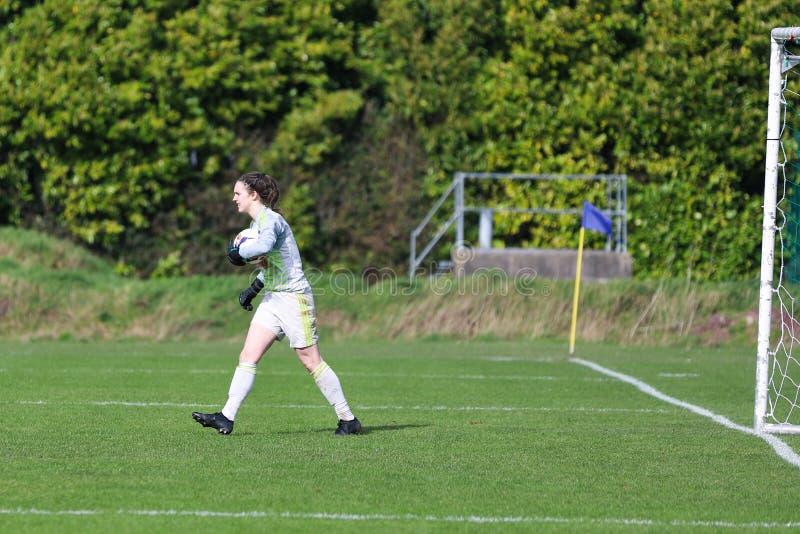 Maria O Sullivan pendant le match de ligue national des femmes entre les femmes de Cork City FC et le Wexford Youths images libres de droits