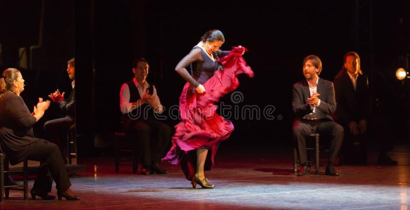 Maria Pages, Spaanse flamencodanser royalty-vrije stock fotografie
