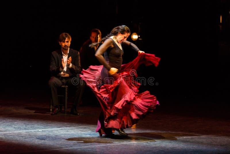 Maria Pages spansk flamencodansare arkivbilder
