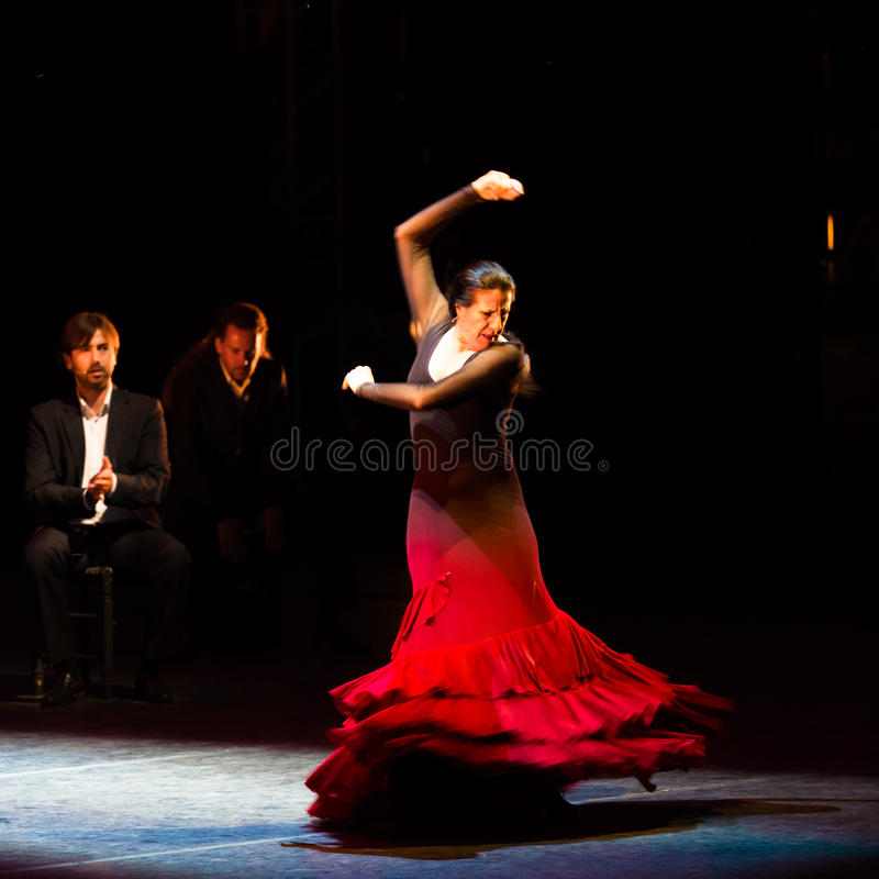 Maria Pages spansk flamencodansare royaltyfri foto