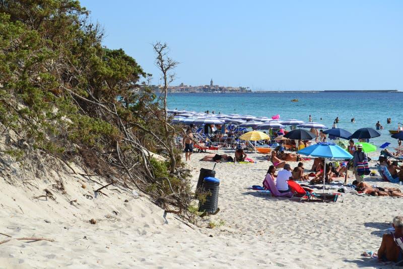 Maria Pia-Strand in Sardinien, Italien lizenzfreies stockbild