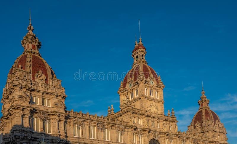 Maria Pita Square, een Coruna, tweede - meest bevolkte stad in Galicië, Noordwestelijk Spanje royalty-vrije stock afbeeldingen