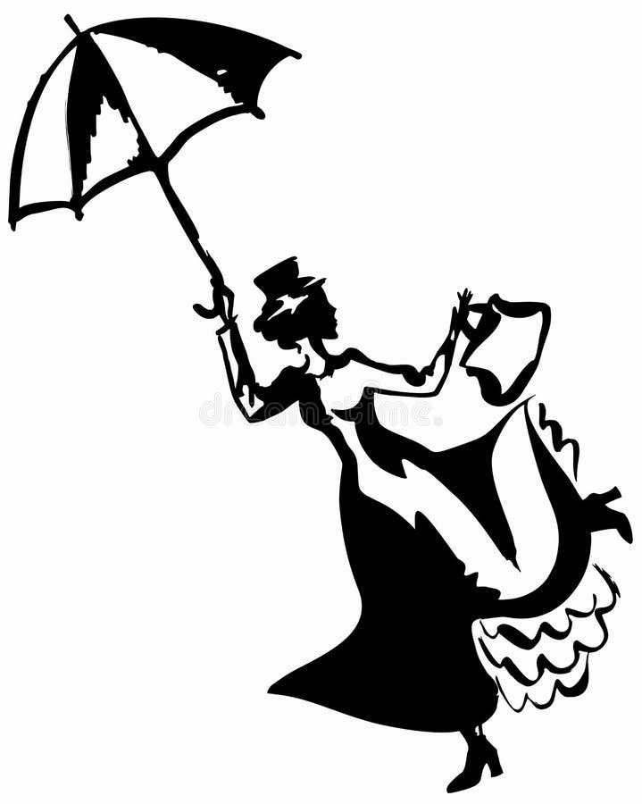 Maria Poppins stock de ilustración