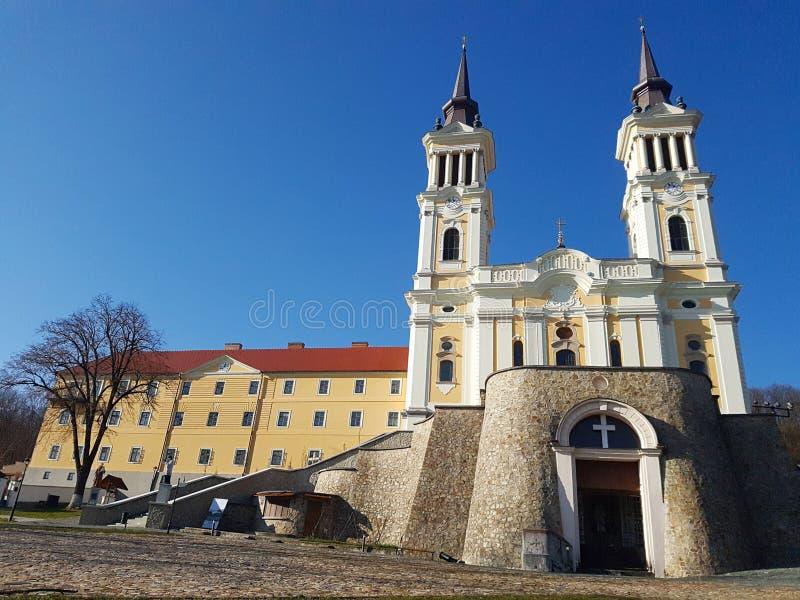 Maria Radna Franciscan Monastery i Radna, Rumänien arkivfoto