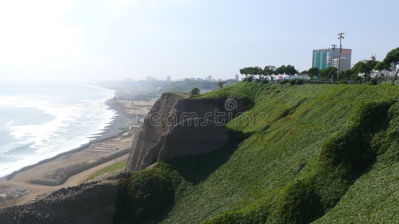 Maria Reiche park in Miraflores district of Lima. Scenic view of the Maria Reiche park in Miraflores district of Lima, Peru stock photo