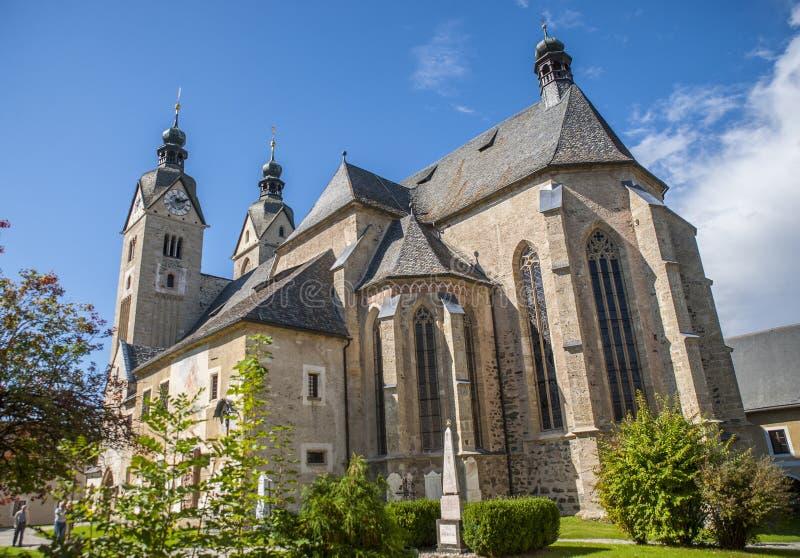 Maria Saal kyrka, Klagenfurt, Österrike royaltyfri foto