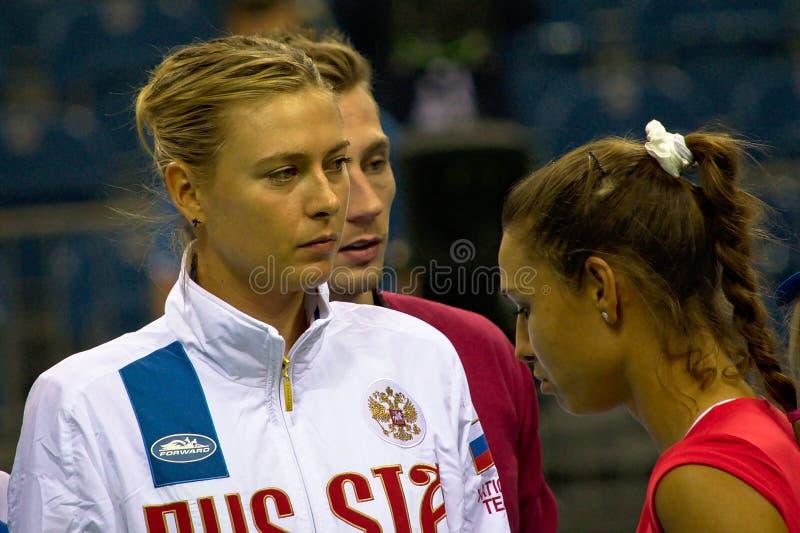 Maria Sharapova och Vitalia Diatchenko arkivbilder