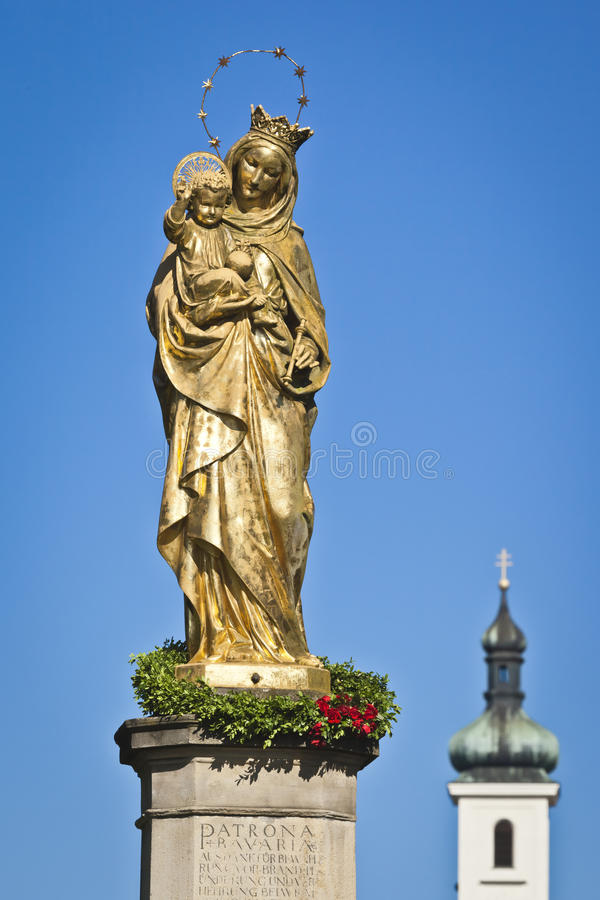 Download Maria Statue Tutzing stock photo. Image of historic, landmark - 20158038