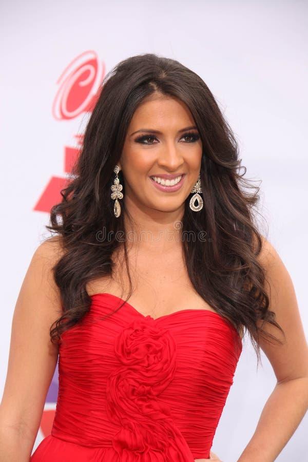 Maria Teresa Interiano chega nos 1òs Grammy Latin anuais foto de stock royalty free