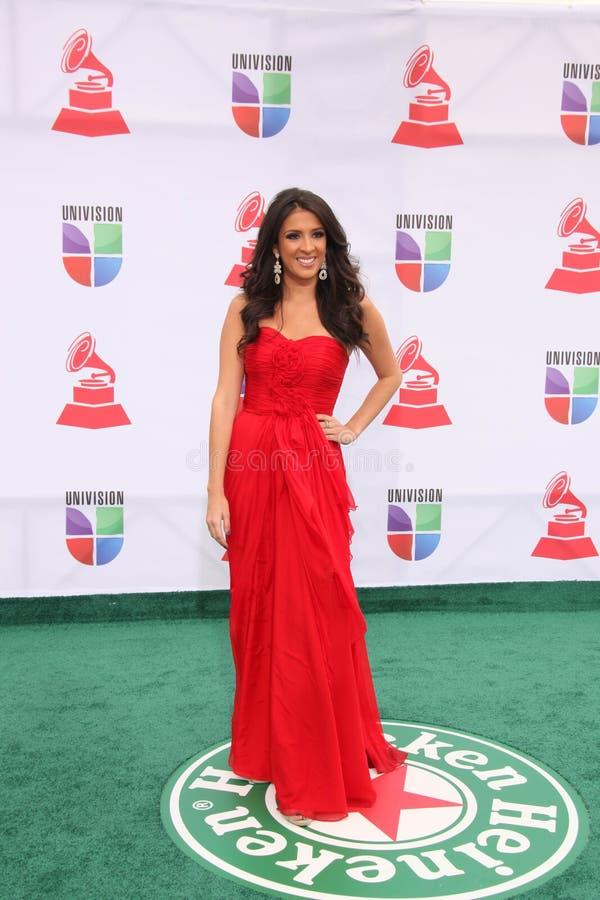 Maria Teresa Interiano chega nos 1òs Grammy Latin anuais imagem de stock royalty free